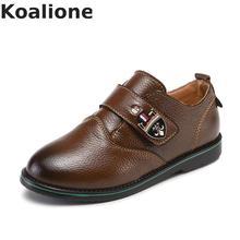 Детская обувь из натуральной кожи для мальчиков; модельные туфли на плоской подошве для школы; классические оксфорды в британском стиле; Детские Свадебные лоферы; Мокасины