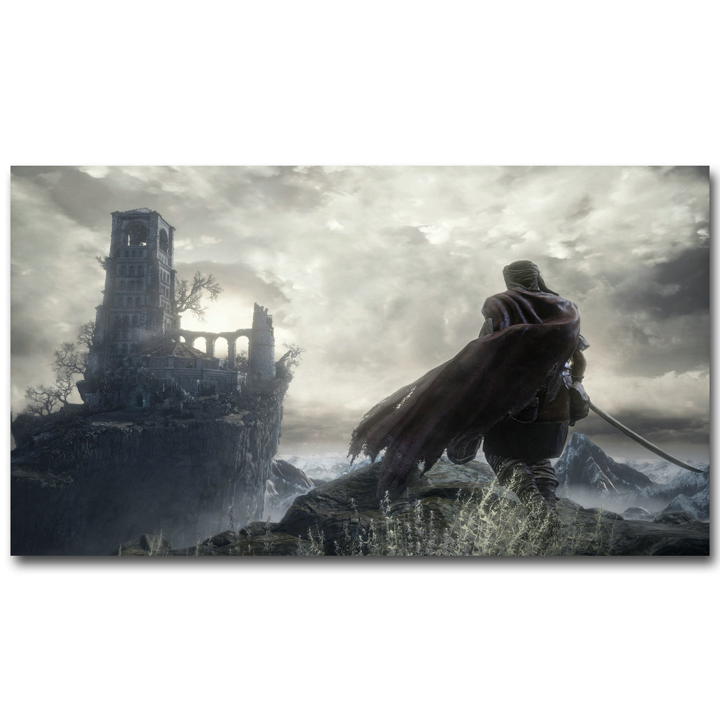 Dark Souls 3 Art Silk Fabric Poster Print 13x24 24x43inch Hot Game Picture for Living Room Wall Decoration Gift 052