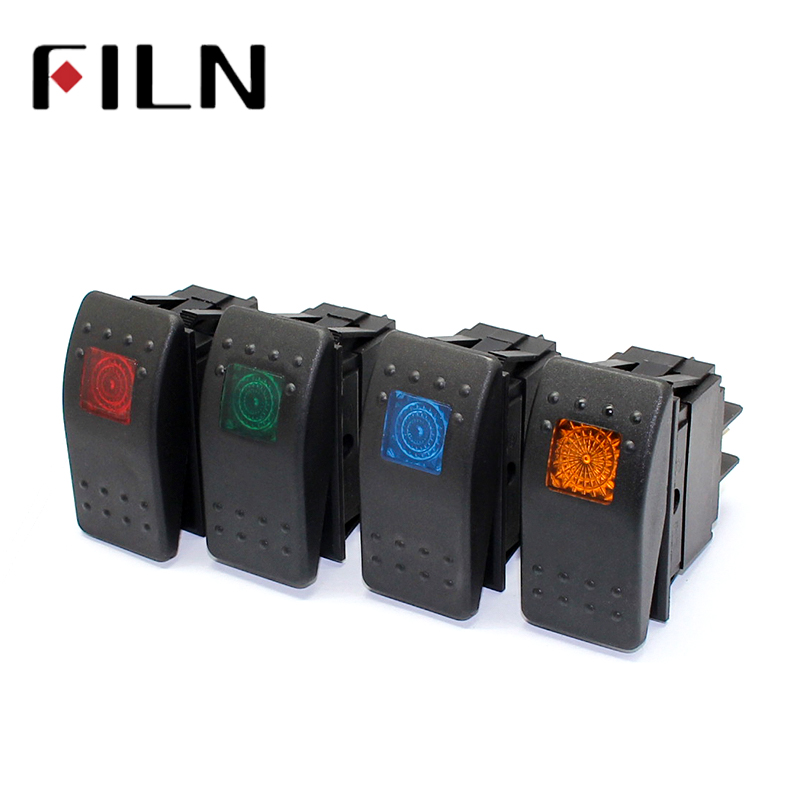 Mintice/™ 5 X 12V Car Vehicle Yellow LED Light Fog Light Button Rocker Toggle Switch On Off 4Pin