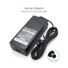 Genuine New AC Laptop Battery Charger For Sony Notebook,120W 19.5V 6.2A,6.0x4.4mm,1 year warranty цена