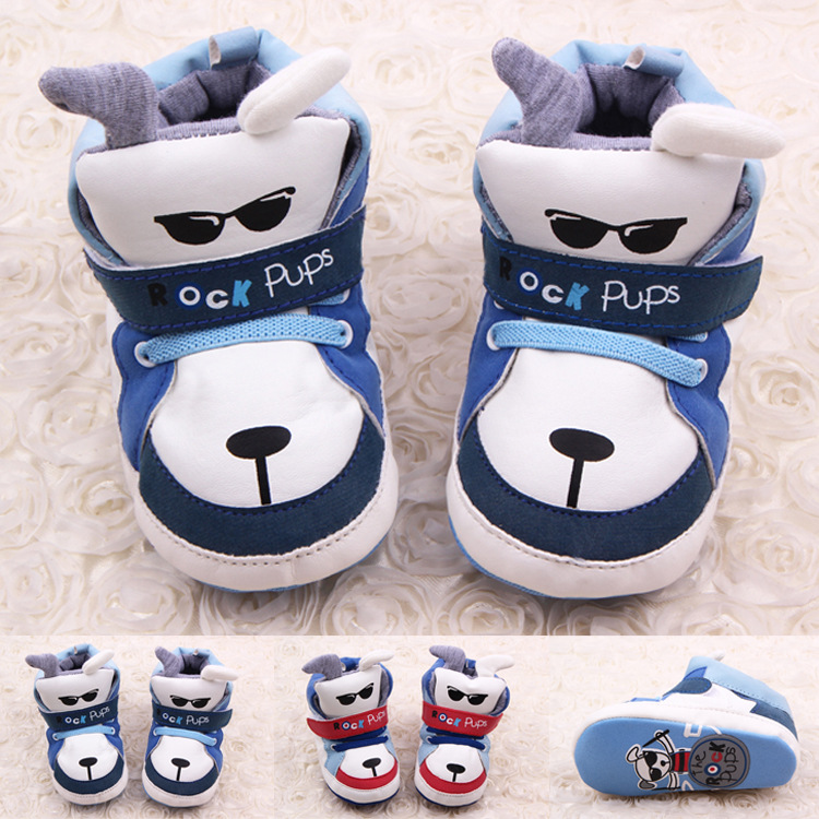 Cute Cartoon Bear Toddler Baby Shoes PU Leather Boy And Girls Leisure Sport Shoes Newborn Shoes First Walkers