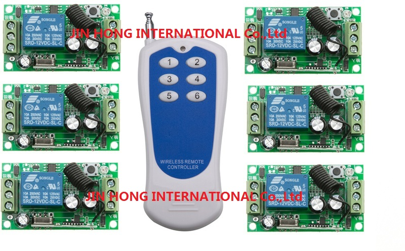 DC12V 1CH RF rocker switch livolo switch system smart house radio switch 315/433mhz 6* Receiver & 1*Transmitters