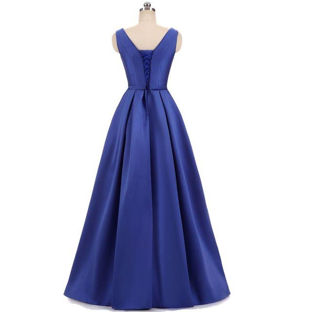 17d37c7392 Fishday Robes De Soirée Longues En Satin Une ligne Papillon Bleu Royal  Femmes Formelle Élégante Chine Robe Longo Occasion Partie Robes B30