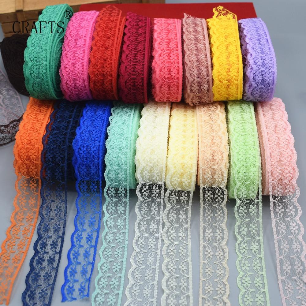 10 ярдов, красивые разноцветные шелковые кружева с вышивкой, Ширина 22 мм, ткань для украшений «сделай сам», кружевные аксессуары, швейная оде...