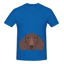 Remy Daschund Hipster Dog Mens Crew Neck Customized Shirt(China)