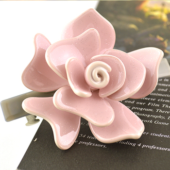 Women Hair Accessories Camellia Flower Hair Clip For Women