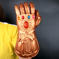 Avengers 4 Endgame Thanos Latex LED Gloves Iron Man Infinity Gauntlet Cosplay action figures Marvel Superhero Party Props toys