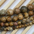 """Brown Round Picture Jasper Beads Natural Stone Beads 4/6/8/10mm Strand 15""""/Diy For Jewelry Making Free shipping"""