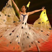 Chinese Dance Costumes/New Sequined Peacock Dancewear Party Dance Dress Party Skirt /Dance Shows Costumes