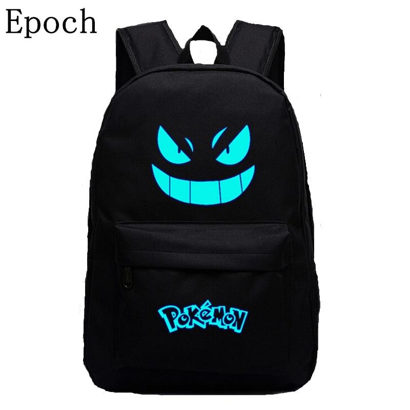 VEEVANV Galaxy Printing Backpack Pokemon Gengar Backpacks Emoji Flash  School Bags For Teenagers School  Mochila Men Women Bags