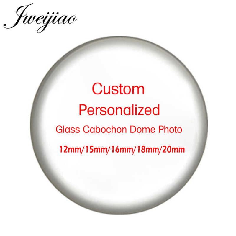 JWEIJIAO индивидуальная Персонализация «сделай сам» стеклянный кабошонный купол с фото амулеты для брелка ожерелье Demo плоская задняя сторона делая результаты Na01