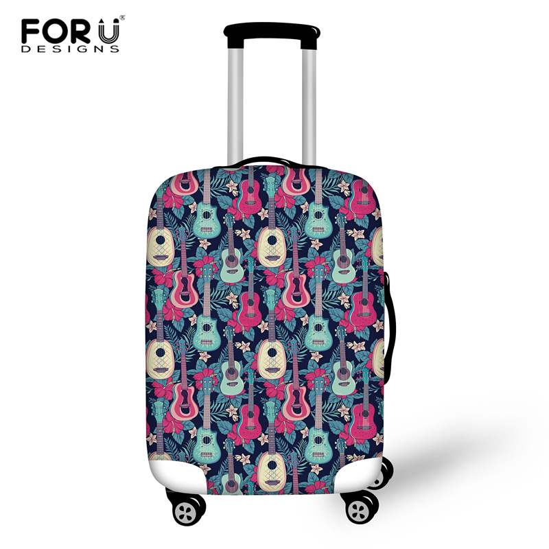FORUDESIGNS Guitar Suitcase Elastic Dust Cover Luggage Case For 18~30 Inch Trolley Case High Quality Travel Protective Cover