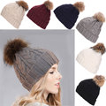 2016 New Women Spring Winter Hats Beanies Knitted Cap Crochet Pompons Ear Protect Casual Warm Caps