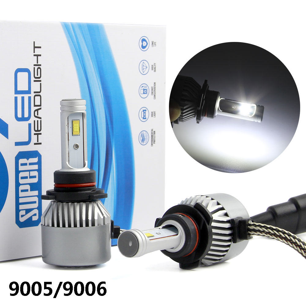 C9 80W 9005/HB3 CSP LED Headlight Bulbs Conversion Kit 6500LM 6500K Single Beam All In One Car LED Headlamp Fog Light 12V
