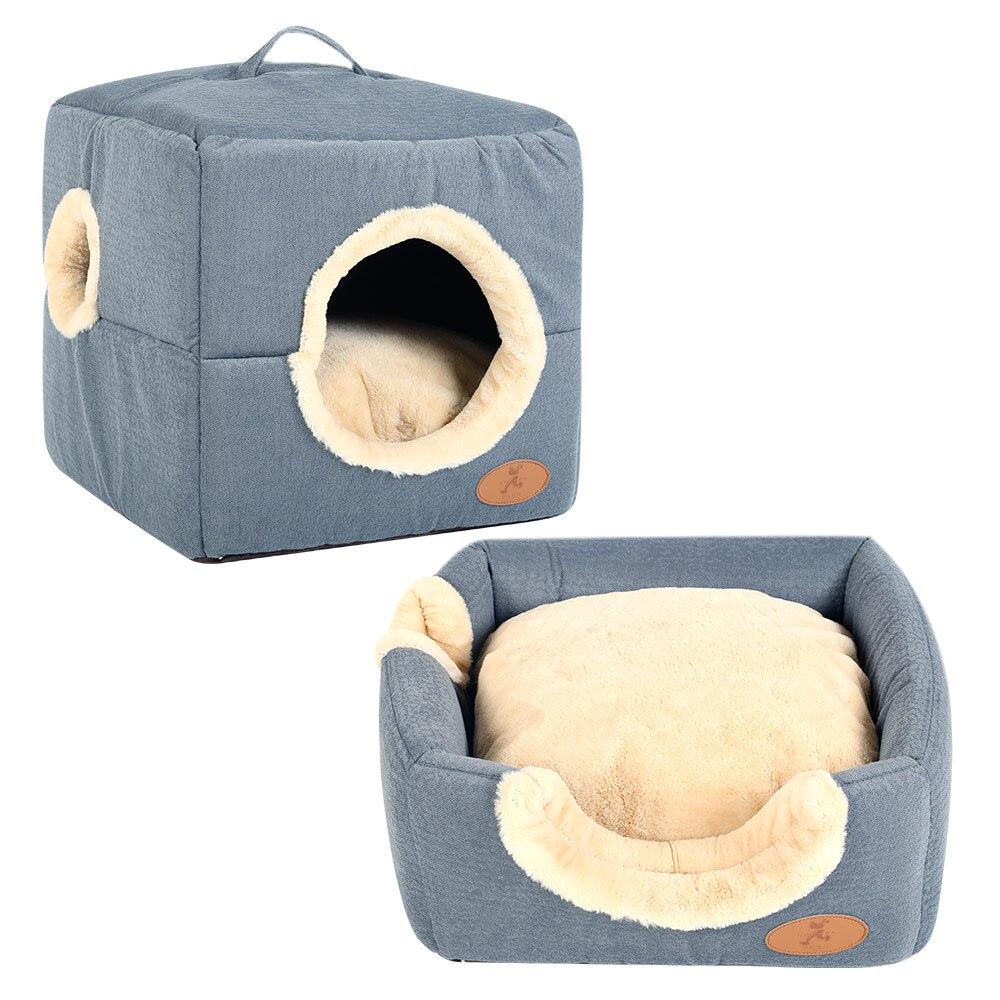 HOOPET Pet Dog Bed House Soft Material Pet Nest Cat Puppy Detachable Four Season