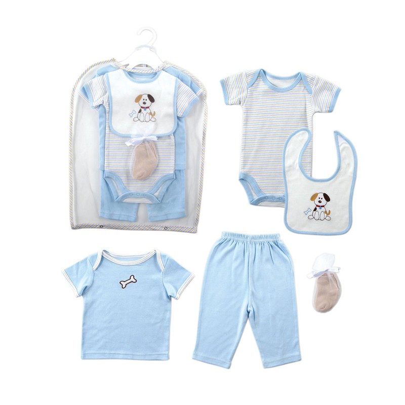 Retail 2016 Summer Style Infant Clothes Baby Clothing Sets Boy Girl Cotton Short Sleeve 2pcs Baby Boy Clothes Baby Rompers 0-6 M (4)