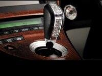 2017 Hot New 1Pcs Luxury Crystals Black Leather Auto Handle Car Transmission Gear Shift Knob High
