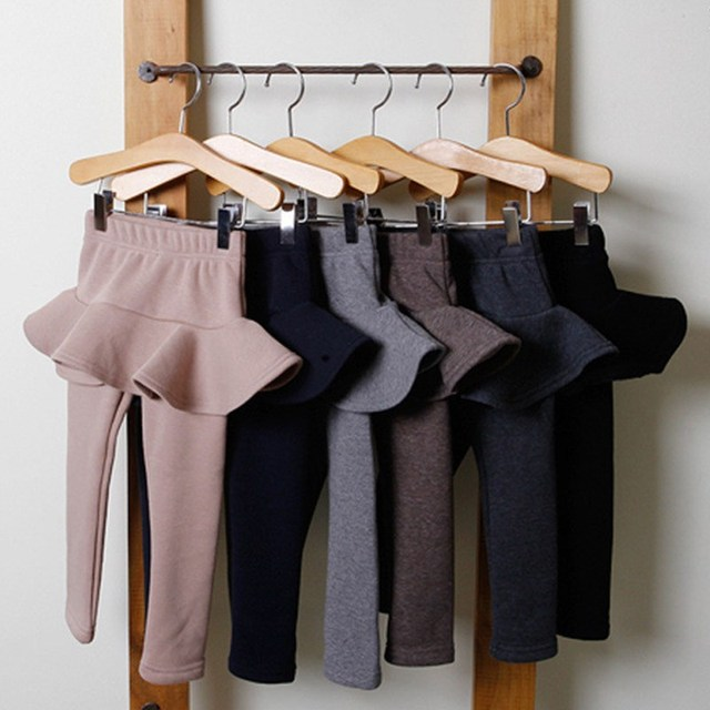 Autumn Winter Kids Leggings Cotton Skirt-pants Teenager Thicken Trousers Girl Leggings Casual Warm Pants Girls Pants Clothing