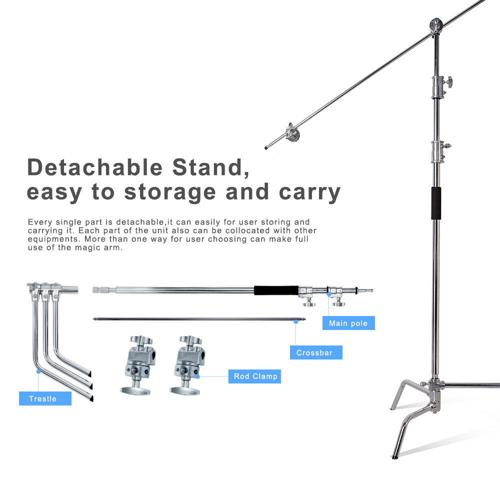 Large Size Light Stand 3.3M/40 inch and C-Stands Magic Arm Professional Light Stands Aluminum Tube for Photography with Crossbar modeling mixed species forest stands