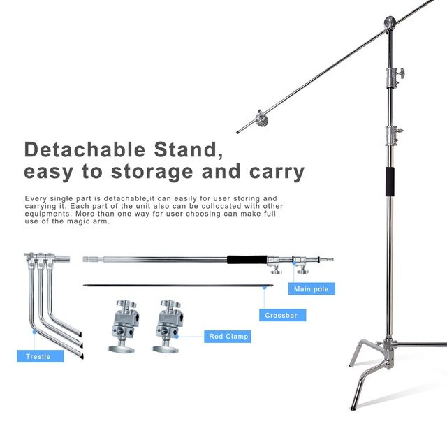 Large Size Light Stand 3 3m 40 Inch And C Stands Magic Arm Professional