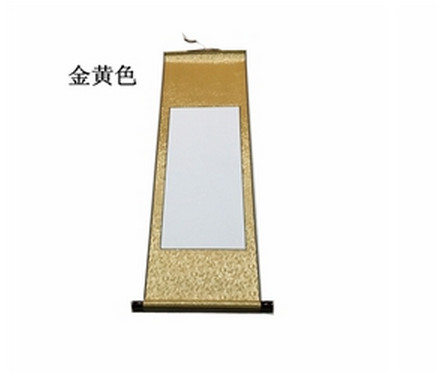 mini shaft blank scrolls ling xuan paper scroll calligraphy, Powerpoint templates