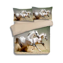 running horses 3d print quilt cover bedding sets for boys teens twin full queen king sizes