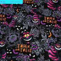 120 cm largeur chat tissu 100% coton tissu Telas Patchwork chat Alice au pays des merveilles imprimé tissu couture matériel bricolage vêtements