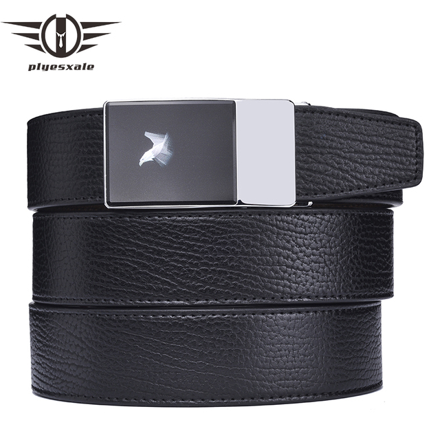 Plyesxale Brand Genuine Leather Belt Men Luxury Brand Fashion