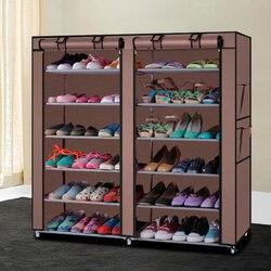 Шкаф для обуви Обувь стеллаж для хранения большая емкость мебель для дома DIY простой 12 Препояшь