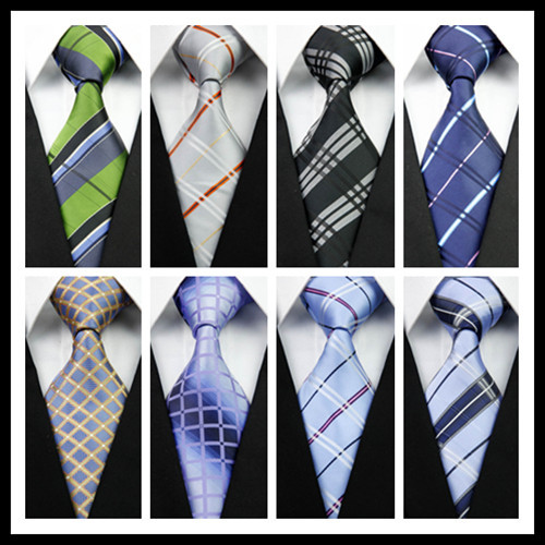 CON48 Green Silver Black Blue Striped Man's New Fashion Silk Polyester Woven Tie Causual Business Wedding Party Luxury Necktie - askformore store