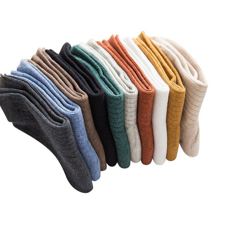 Filles De Mode Chaussettes Solide Couleur Respirant Coton Femme Tube Chaussettes Simple Déodorant Chaussettes Femmes 3 paires/lot