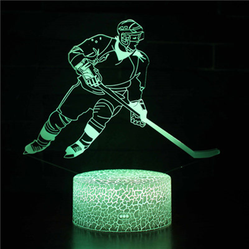 Ice hockey theme 3D Lamp LED night light 7 Color Change Touch Mood Lamp Christmas present DropshipppingIce hockey theme 3D Lamp LED night light 7 Color Change Touch Mood Lamp Christmas present Dropshippping