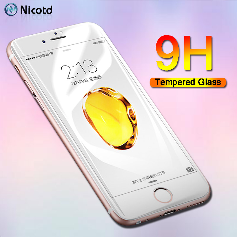 Full Coverage Tempered Glass For IPhone 6 6s Plus 7Plus XS Screen Protector Film For IPhone 8Plus 7 4.7 Inch XS X  6Plus 9H Film