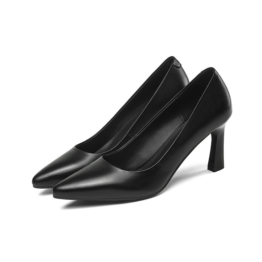 Décontracté Talon Pour 42 Noir Taille Carré Pompes Femmes 2019 Bureau On forme Haut Dame 34 Slip Dames De Plate Chaussures Qutaa BF6fnqwn
