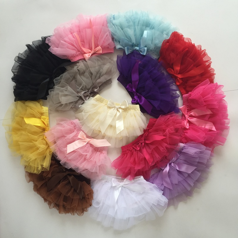 Baby Cotton Chiffon Bloomers Baby Diaper Cover Shorts Headband Summer Clothing