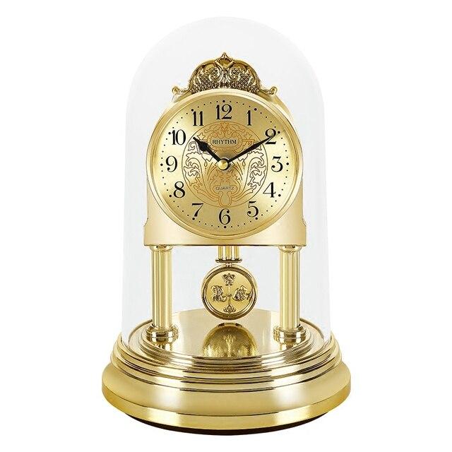 cfa80bbb Ритм 8 дюймов оригинальность настольные часы silent кварцевый механизм  исследование настольные часы маятника и вращающийся маятник