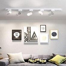 Современный светодиодный светильник GU10 рельсовый Точечный светильник s светодиодный светильник s отслеживающий светильник Точечный светильник s лампа для магазина Шоурум
