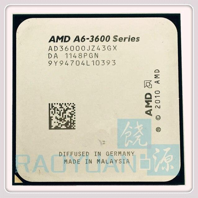 AMD A6-3600 A6-3600 2.1GHz 4M 65W Quad-Core CPU Processor AD3600OJZ43GX Socket FM1/ 905pin