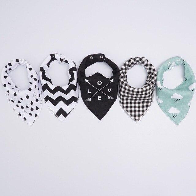 Muslin life 20 styles 4pcs/lot bibs burp cloth print Arrow wave triangle baby bibs cotton bandana accessories 1