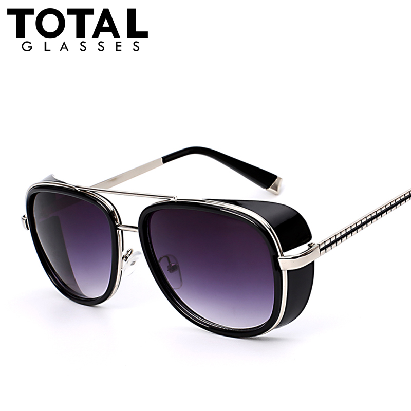 Totalglasses square sunglasses men brand designer sunglass vintage retro superstar fashion glasses oculos uv400