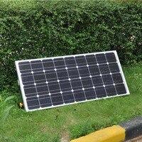 Панели солнечные комплект панно solaires 12 В 100 Вт заряда Батарея солнечные пластины кронштейн морской яхты домашний сад Светодиодные лампы