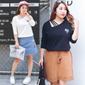 Coconut Tree Embroidery Shirt Women Sexy V-neck Plus Size 4xl Long Sleeve Tops Kawaii Korean Haut Femme Beyonce Tee 0279-215