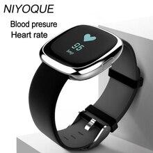 Niyoque P2 Bluetooth Smart Браслет Приборы для измерения артериального давления Мониторы SmartBand Водонепроницаемый шагомер Фитнес трекер умный Браслет