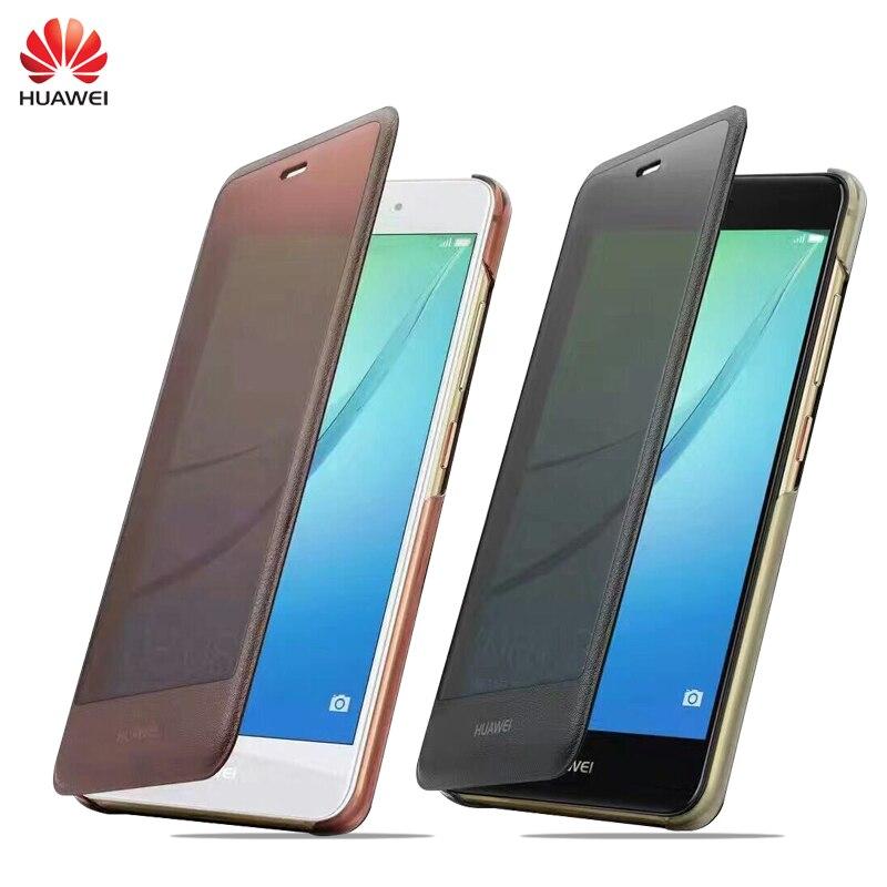 """bilder für Original Fall Für Huawei Nova 5,0 """"PU Leder Einfache Amts Smart Window View Flip Telefonabdeckung Funda"""