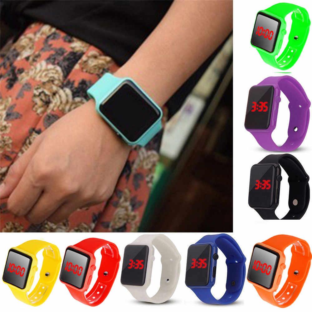 Unissex digital led esportes relógio de silicone banda relógios de pulso dos homens crianças moda esporte relógio eletrônico relógio digital presentes men men