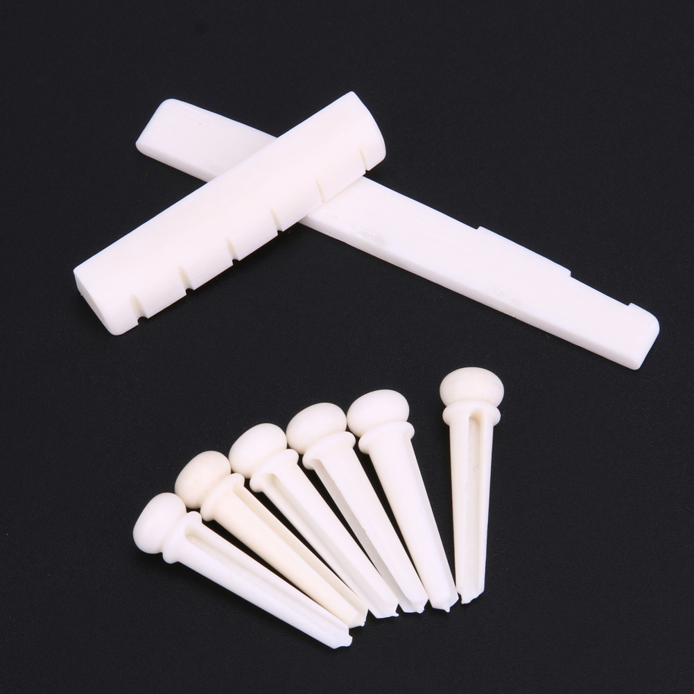 2017 Guitar Accessories 1 Set Universal Bone Bridge Pins Nail Nut Saddle Part For Acoustic Guitarra Part 1 kit classical guitar bone nut saddle rosewood bridge 12pcs bridge pins guitarra for guitar accessories and part kits