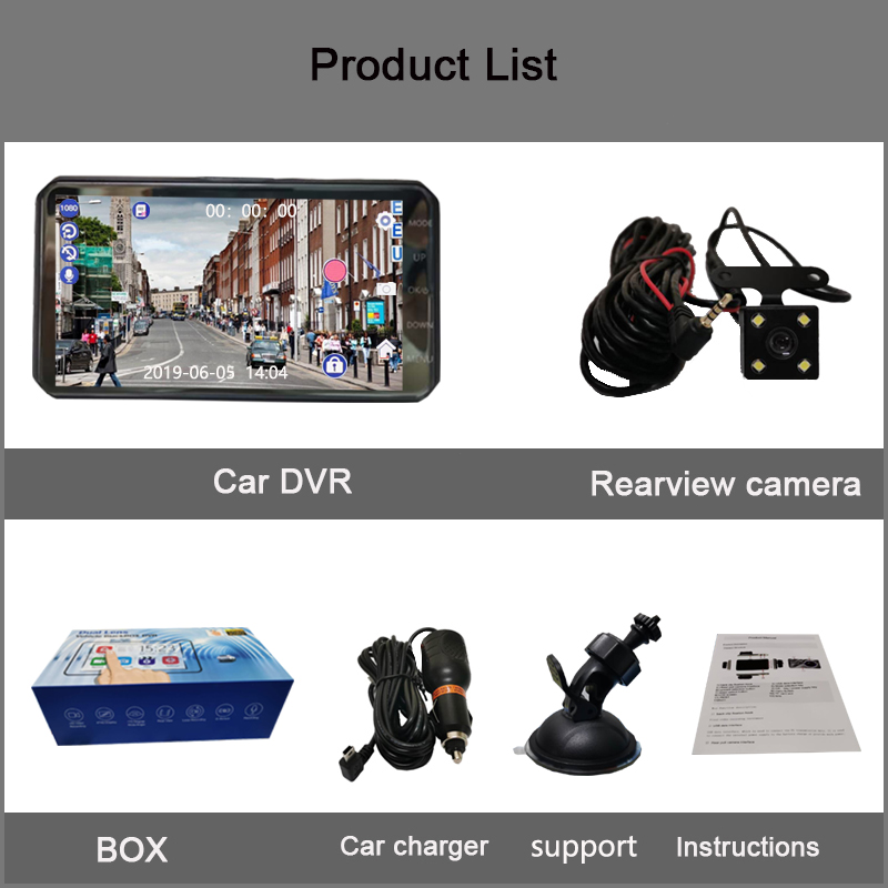 Image 5 - Jiluxing X20S 1080P 4 Inch Touch car DVR Dual Lens car cameras Dash Cam Auto Digital Video Recorder Registrator Loop video-in DVR/Dash Camera from Automobiles & Motorcycles