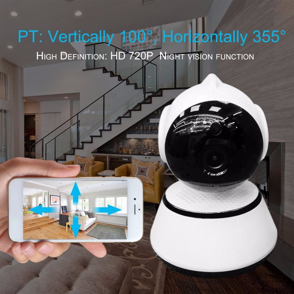 Wireless WIFI HD 720P Pan Tilt CCTV IP Camera IR Night Vision Wide Angle Lens Support TF Card Home Security Monitor leshp home security monitor ip camera hd wireless wifi camera surveillance ir night vision baby monitor with mic support tf card