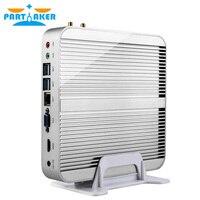 Дешевый Intel Core i3 6100U i5 6200U i7 6500U Mini PC Windows 10 Barebone компьютер 4 К HTPC mini pc HDMI VGA DP