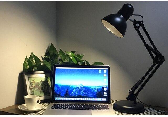 LED небольшая настольная лампа исследование глаз настольная колледж общежитие спальня спальня кровать клип тип работы чтение складной
